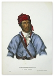 McKenney & Hall Color Print From 1872 -- Uchee Warrior Timpoochee Barnard