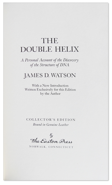 a review of james d watsons the double helix First edition of the double helix signed by james d watson watson, james d the double helix: a personal account of the discovery of the structure of dna.