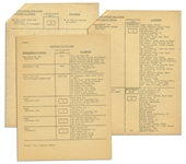 Original President John F. Kennedy Motorcade Seating Plan for Historic 1963 Berlin Trip