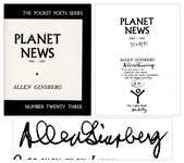 Allen Ginsberg Signed Poetry Book Planet News