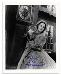 Olivia de Havilland 8 x 10 Signed Photo as Melanie From Gone With The Wind