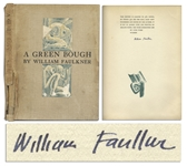 William Faulkner Signed A Green Bough -- Rare Limited Edition of Faulkners Poetry
