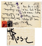 Rose Kennedy Autograph Postcard Signed from Venice -- Here for a week and then back to Paris...