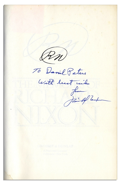 Richard Nixon Signed First Edition of ''RN: The Memoirs of Richard Nixon''