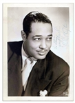 Jazz Great 5 x 7 Duke Ellington Signed Photo