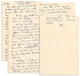 Dwight Eisenhower WWII Autograph Letter Signed -- ... this war is just one drive for time!...I dont like to appear a weakling or a sissy...