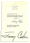 Jimmy Carter Typed Letter Signed as President -- ...your views on our foreign aid program...