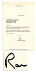 Ronald Reagan Typed Letter Signed in 1978 -- ...You are doing a great job; keep it up...