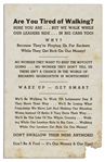 Scarce Flyer Issued by the Black Opposition to the Montgomery Bus Boycott -- ...There isnt a chance in the world of breaking segregation in Montgomery...