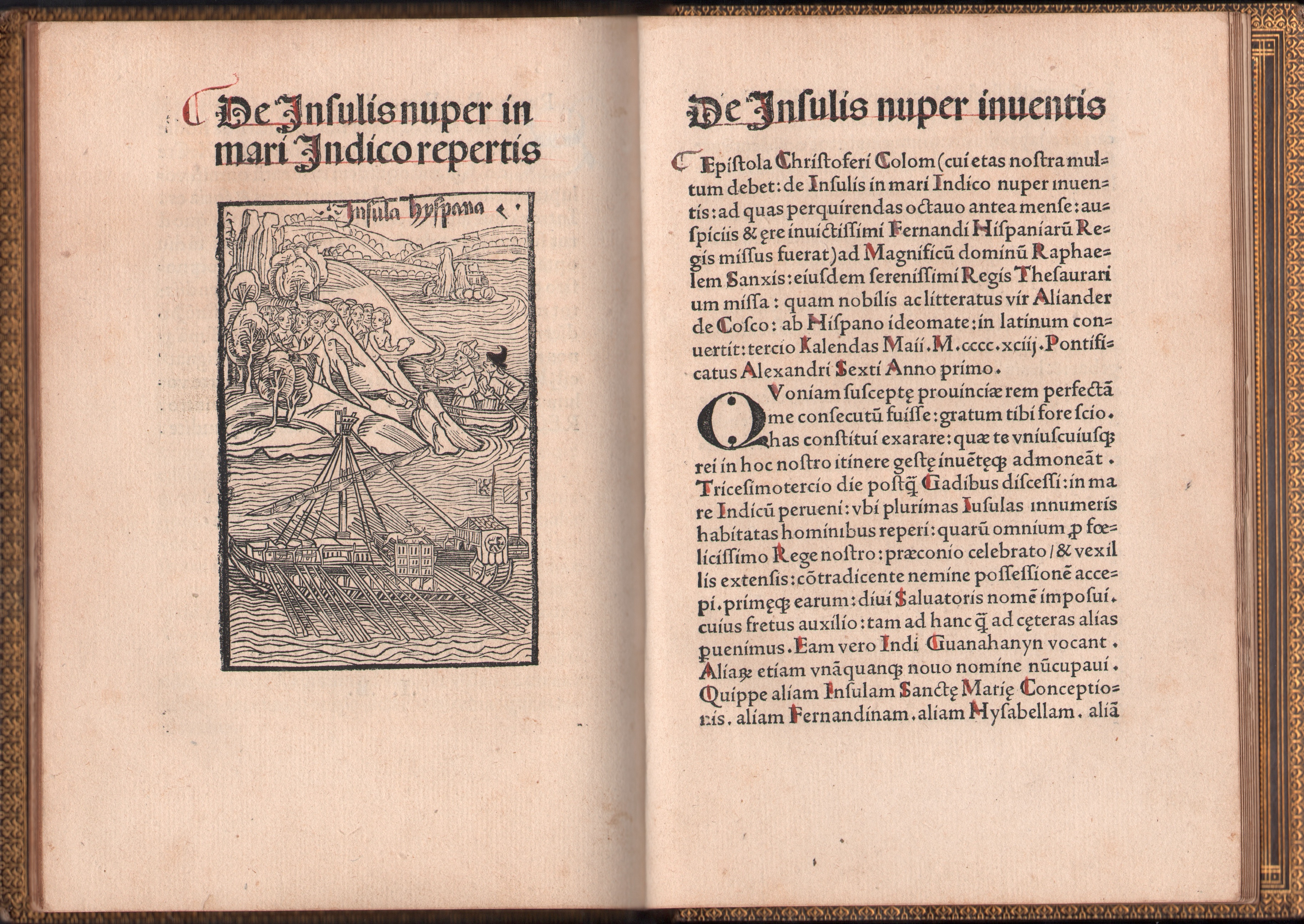columbus letter to isabella and fernidand View the original text of history's most important documents, including the the letter of columbus to luis de sant angel announcing his discovery.