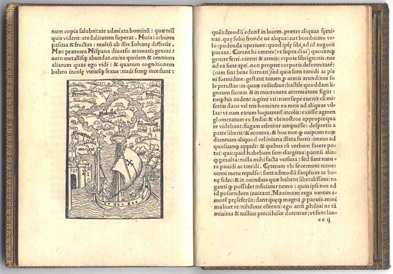 the first account of the discovery of the new world christopher columbus 1494