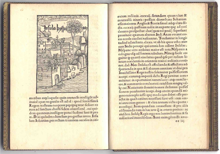 The First Account of the Discovery of the New World -- Christopher Columbus' 1494 Book With His Letter of the Discovery to Ferdinand & Isabella & Woodcuts of America