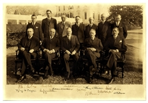 President Herbert Hoover Large Signed Photo Measuring 20 x 13.5 -- Also Signed by His Entire Cabinet & Very Rare as Such