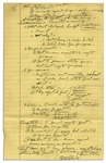 Richard Nixon Handwritten Notes From 1958 -- Likely Notes From a Speech, With Arguments on Conservatism -- ...I believe in Private rather than govt enterprise...Are you a Conservative...