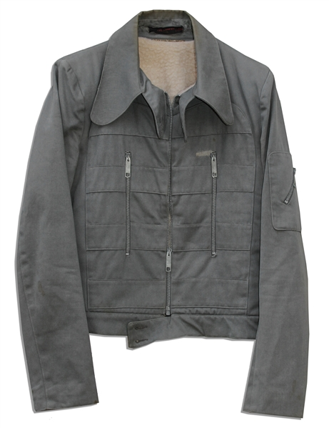 Bruce Lee's Grey Cotton Jacket -- With a COA From His Widow, Linda Lee Who States It Was One of Bruce's Favorite Jackets