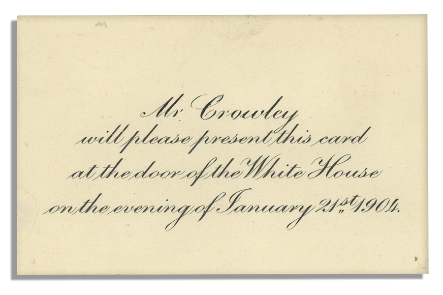 Invitation to the Theodore Roosevelt White House