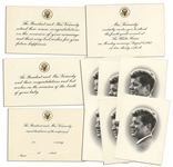 President John F. Kennedy Collection of White House Cards & Invitations