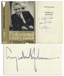 Lyndon B. Johnson Signed First Edition of The Professional
