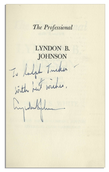 Lyndon B. Johnson Signed First Edition of ''The Professional''