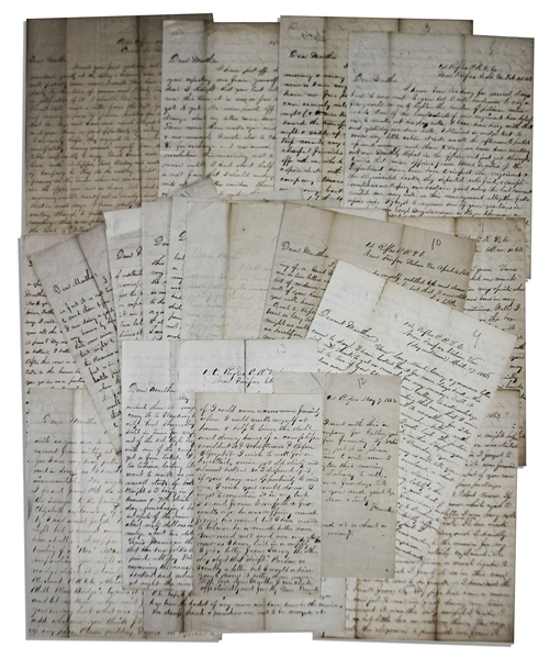 81 Letter Lot by Civil War Soldier -- Gettysburg Content -- ''...I have almost forgotten what it is that has brought me here; to kill and destroy human beings...''