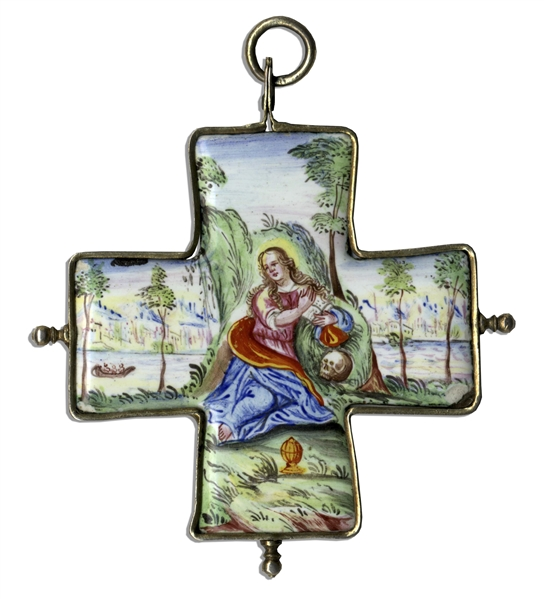 Marlene Dietrich Personally Owned Ceramic Cross Pendant