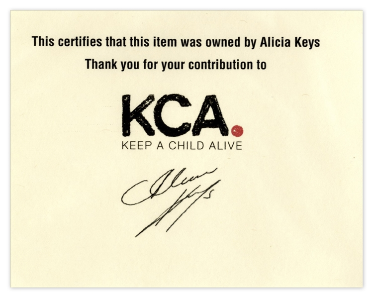 Alicia Keys Worn Silk Kimono, With Stunning Peacock Feather Design -- With a COA From the Singer