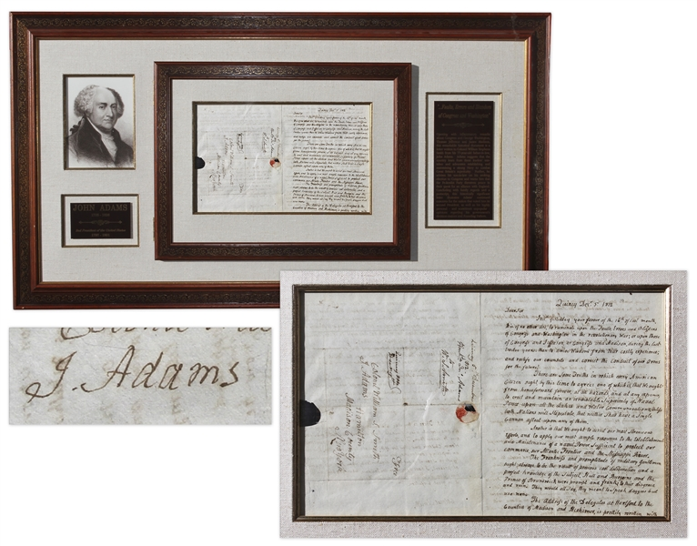 John Adams Autograph Letter Signed -- Exceptional Content During War of 1812: ''It is of no other use to ruminate upon the faults, Errors & blunders of Washington in the revolutionary War...''