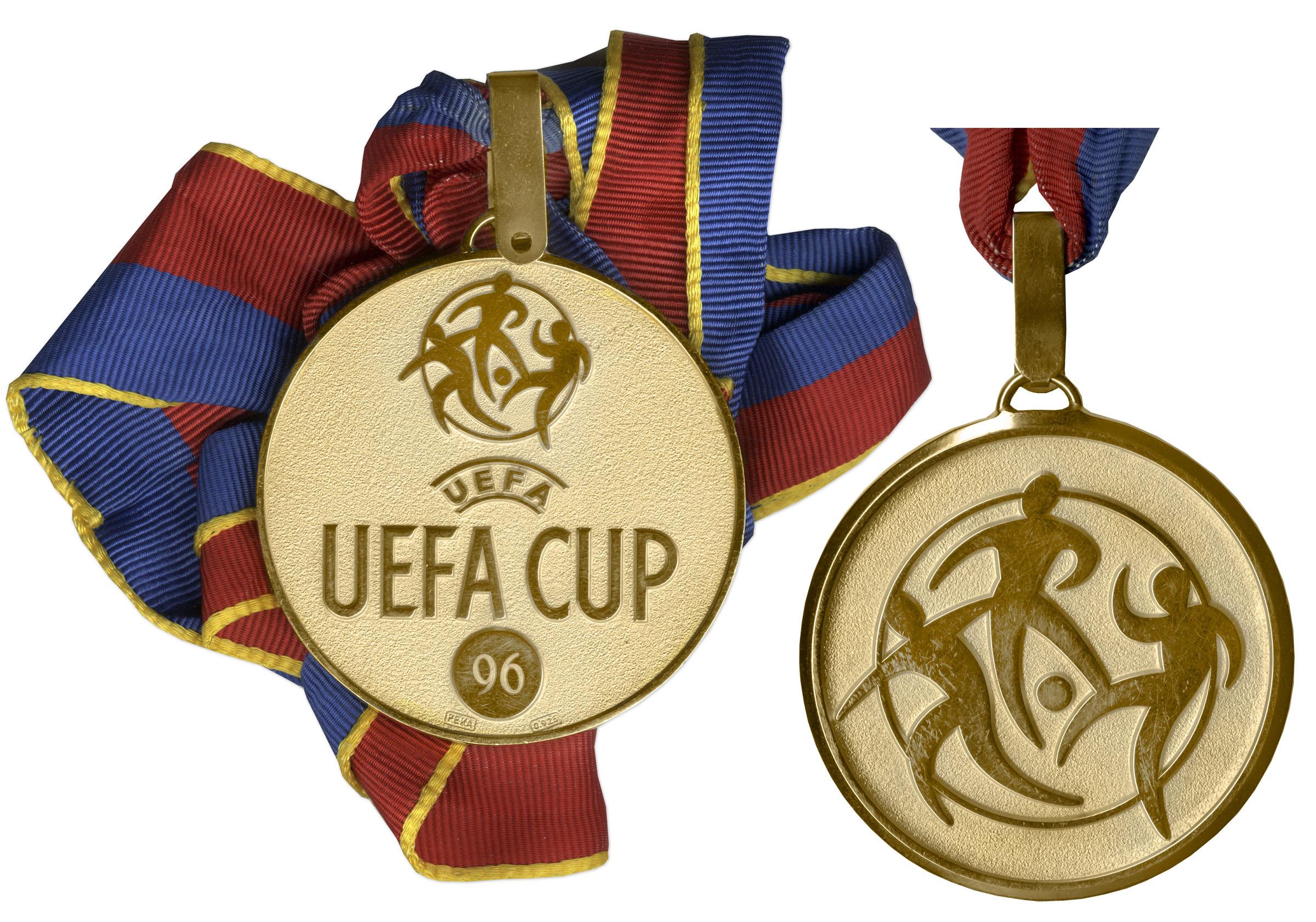 UEFA Detail: UEFA Cup Gold Medal -- Won By Bayern Munich