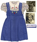 Shirley Temple Screen-Worn Heart Dress From 1938 Film Just Around the Corner