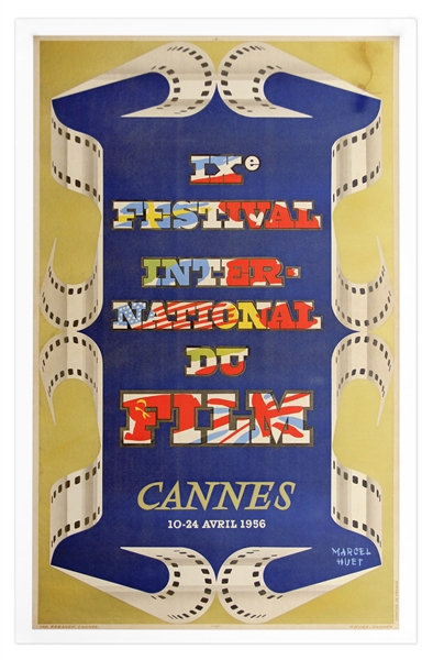 1956 Cannes Film Festival Poster -- Linen Backed, in Near Fine Condition