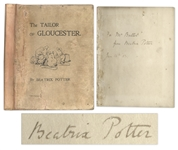 Beatrix Potter Signed 1902 First Edition, First Impression of The Tailor of Gloucester -- Very Rare