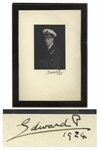 Edward VIII Signed Presentation Photo Display From 1924 as the Prince of Wales -- Photo by Vandyk Shows the Prince in His Naval Uniform