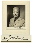 Dwight D. Eisenhower Signed 8 x 10 Military Photo