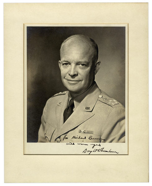 Dwight D. Eisenhower Signed 8'' x 10'' Military Photo