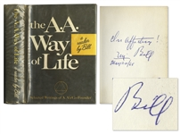 Bill Wilson Signed First Edition of The AA Way of Life