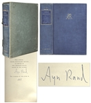Ayn Rand Signed Atlas Shrugged -- Her Magnum Opus -- Number 317 in a Special 10th Anniversary Edition Limited to 2,000