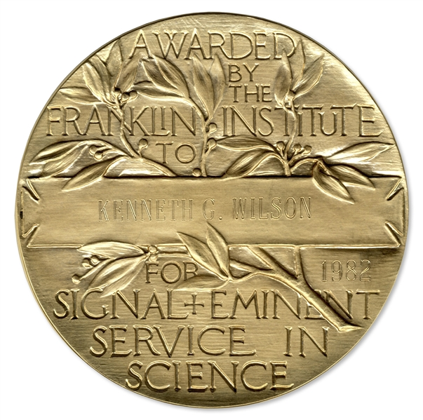 Franklin Institute Medal Awarded to Theoretical Physicist Kenneth Wilson -- America's Oldest Ongoing Science Award Program