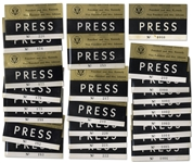 Lot of 25 Press Badges for President Kennedys Texas Welcome Dinner, Slated for the Night He Was Assassinated