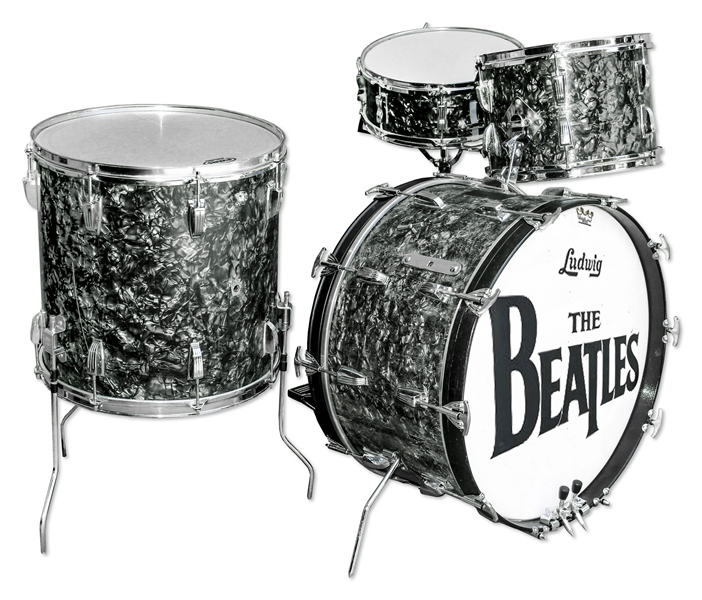 Beatles Drum Auction Drum Kit Used to Record The Beatles' Very First Single ''Love Me Do'', on Their Debut Album ''Please Please Me'' -- Also Used on ''P.S. I Love You''