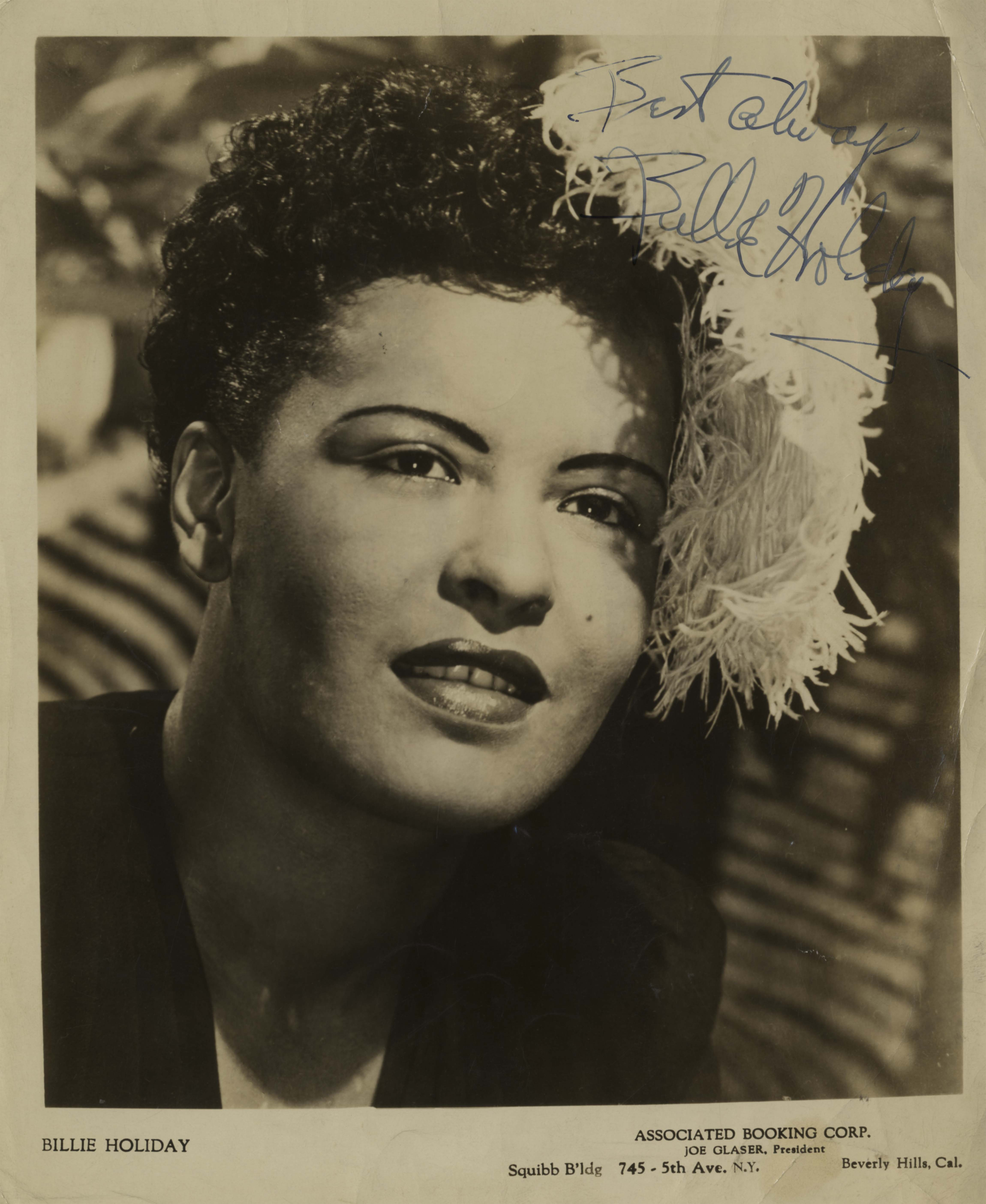 Billie Holiday Autograph