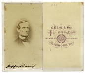 Jefferson Davis Signed CDV Photo