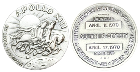Apollo 13 Space-Flown Robbins Medal -- From the Estate of Jack Swigert