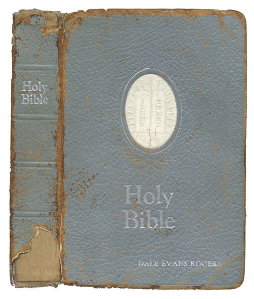 Roy Rogers Personally Owned Bible With His Monogram -- Also With Dale Evans Rogers Personally Owned Bible With Her Monogram -- From the Roy Rogers Estate