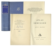 Ayn Rand Signed Atlas Shrugged -- Number 240 in a Special 10th Anniversary Edition Limited to 2,000