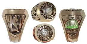 John Johnsons 1978-79 Seattle SuperSonics NBA Championship Ring -- Obtained Directly From His Estate