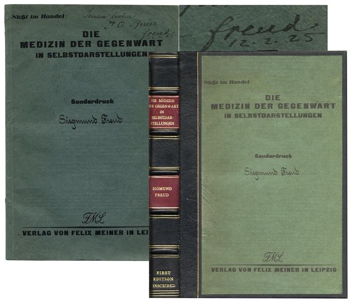 Sigmund Freud Autograph Sigmund Freud Signed Autobiography -- Rare First ''Offprint'' Edition