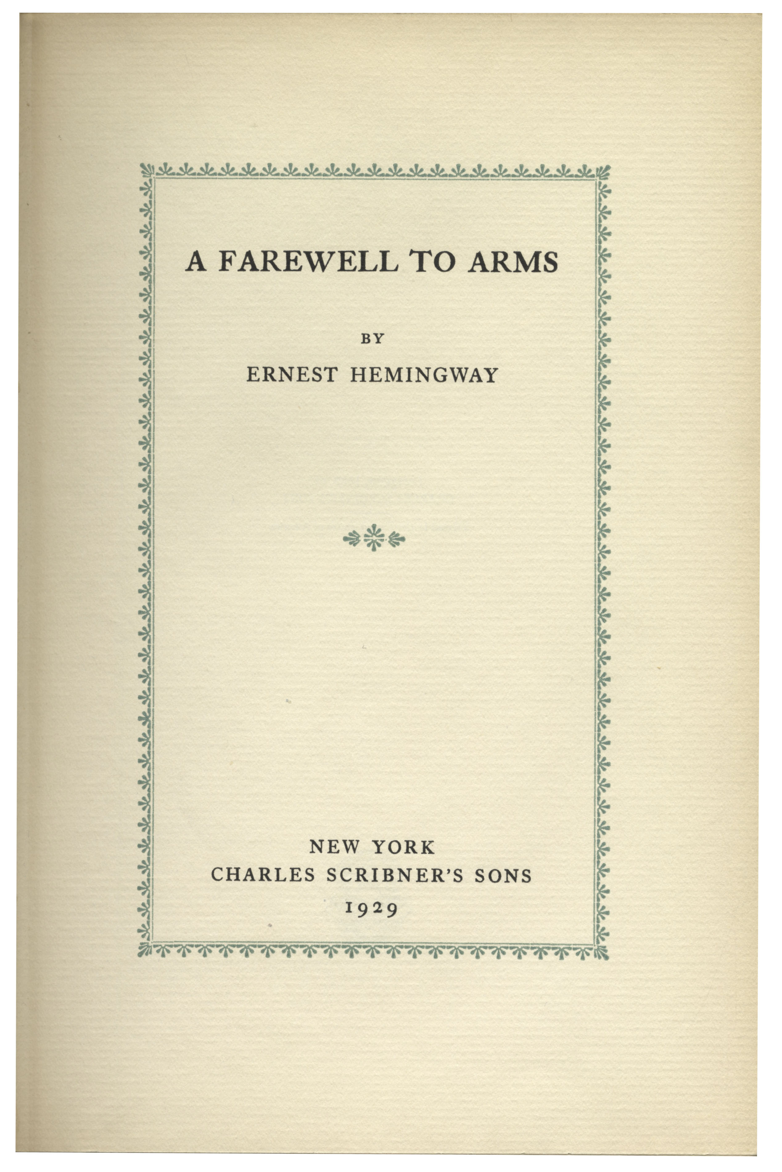 frederick henry in a farewell to arms by ernest hemingway In the fictional novel a farewell to arms by ernest hemingway there are many  farewell to arms book report  the narrator frederick henry is an.