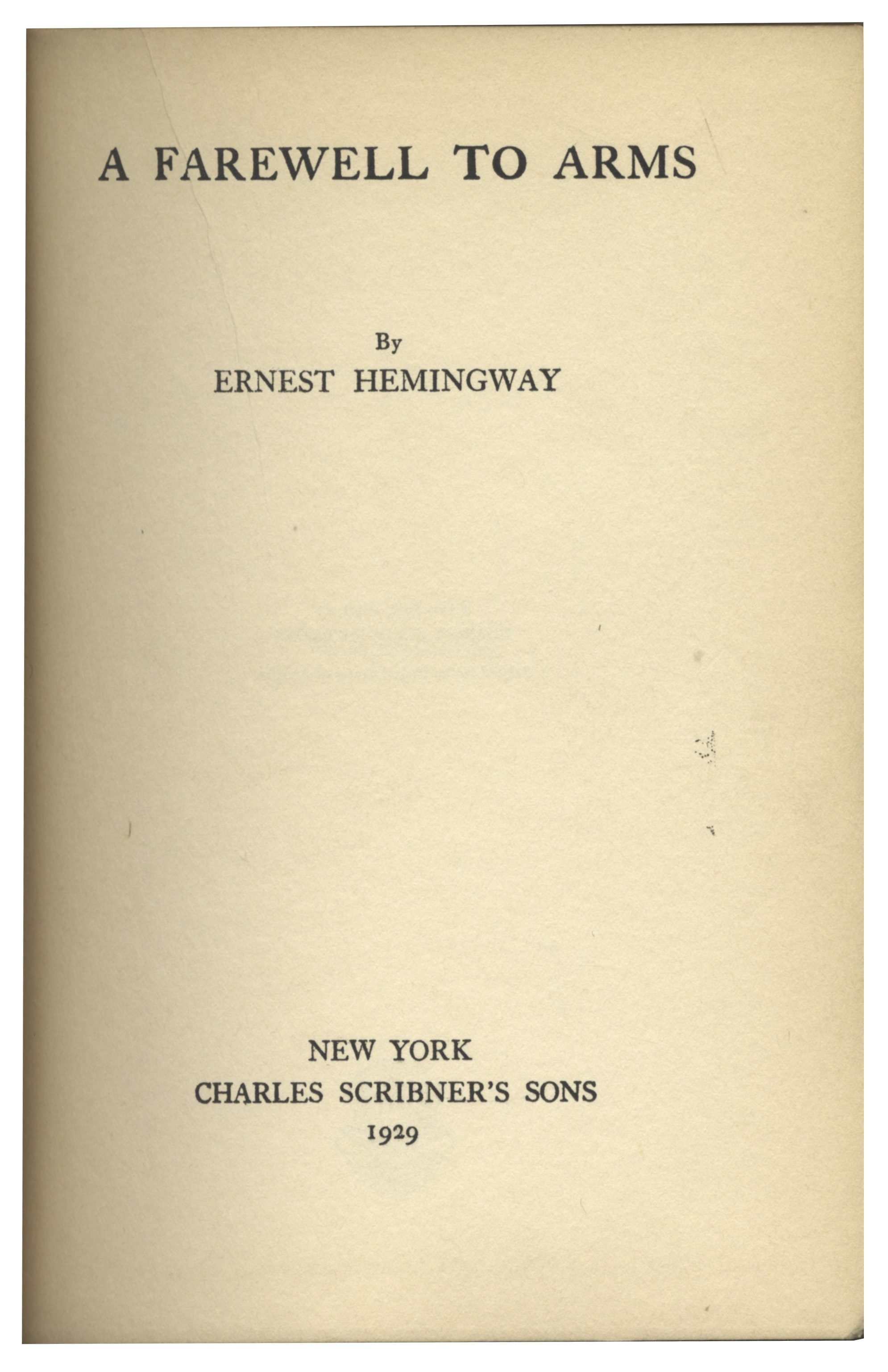 an analysis of nature symbolism in a farewell to arms by ernest hemingway Hemingway, ernest a farewell to arms (1929) analysis by 21 critics - download as pdf file (pdf), text file (txt) or read online mnmnv.