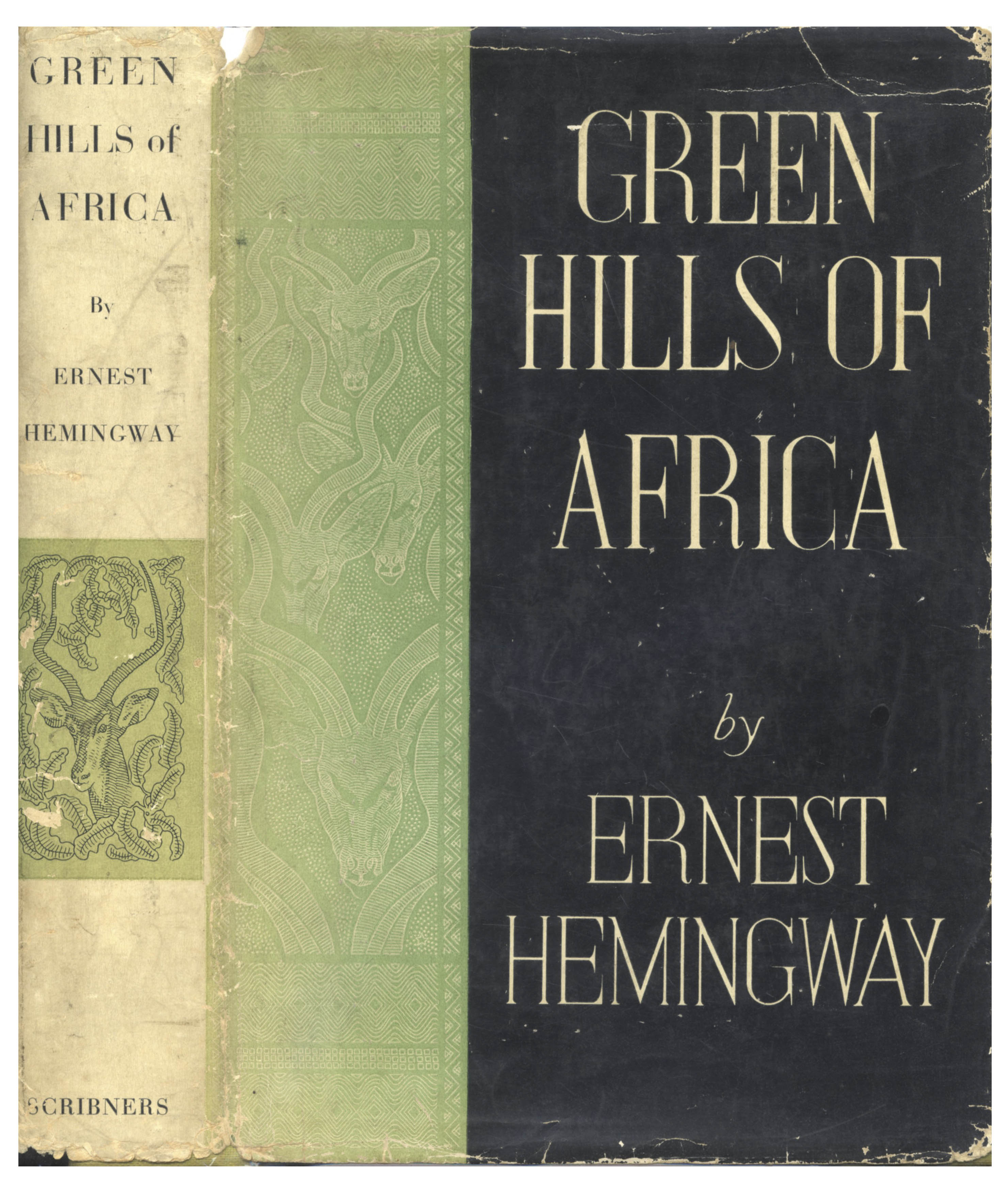 ERNEST HEMINGWAY Green Hills of Africa 1st Ed 1st Prt w/ A and Seal 1935 SCRIBNERS