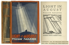 William Faulkners Light in August First Edition, First Printing in Scarce First Printing Dust Jacket